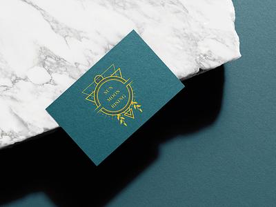 Astrology branding - Logo geometry print design business card bohemian brand identity rising moon sun astrology branding logo