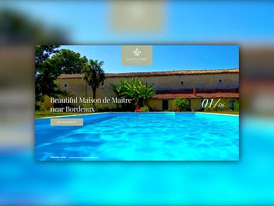 French Holiday Home - Website design 🇫🇷🕶 logo branding vacation travel sun dailyui webdesigner inspiration uidesign webdesign digital design website ui design website design