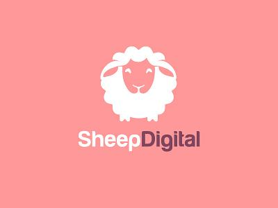 Sheep Digital logo design minimal logo mark icon symbol lamb sheep logo animal