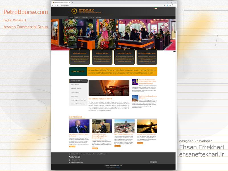 PetroBourse.com website website uiux refinery petrochemical oil and gas development ux ui design