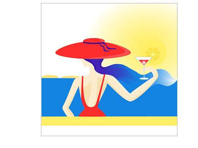 Beach logo ui design characterdesign branding плоский персонаж персонажи иллюстрация брендинг