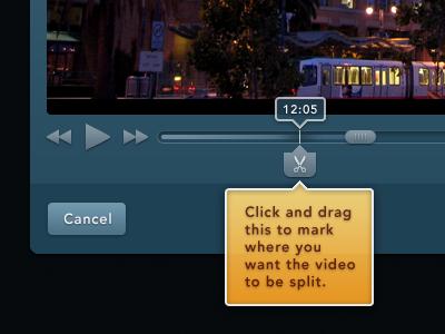 Split video editing web