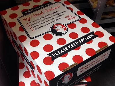 Meat Space freezer box cookies rubysnap packaging rubysnap.com