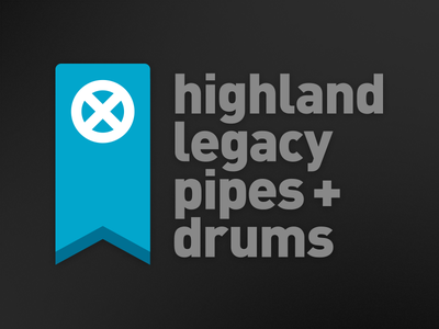highland legacy pipes + drums pipe band logo scottish