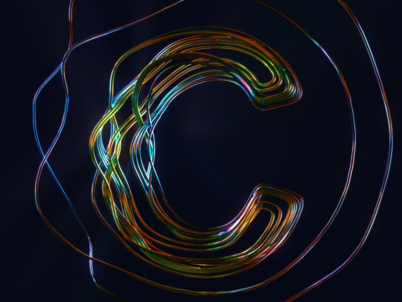 """""""C"""" is for crazy curves! colorhype art digital abstract aftereffects redshift houdinifx 3d typography 36daysoftype05 36days-c 36daysoftype"""
