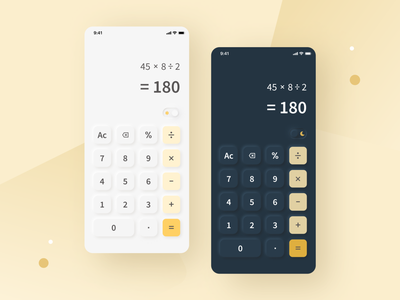 [Daily UI] Calculator with neumorphism style neumorphirm style neumorphism calculator ux ui design daily ui