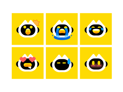 A set of emoji emoji 形象设计 branding illustration