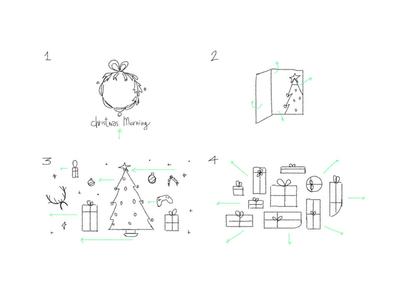 "Storyboard - SkyUno Ident ""Christmas Morning"" sketch morning christmas storyboard story tv ident sky"