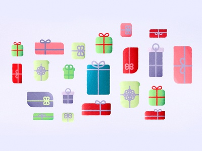 Christmas Morning  illustration layout xmas christmas gifts presents ident sky