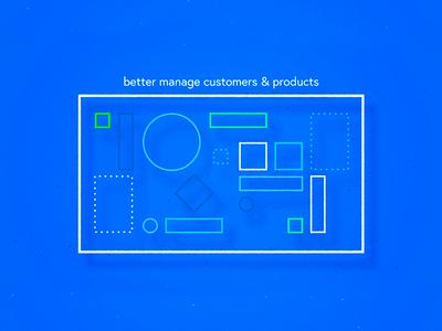Abaninja - business software - B design app lines minimal shadow linear shape direction software business ui illustration