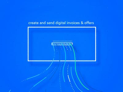 Abaninja - business software - C design app lines minimal shadow linear shape direction software business ui illustration