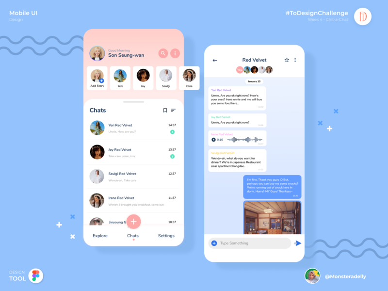 ChatInk app design branding mobile app illustration ux ui