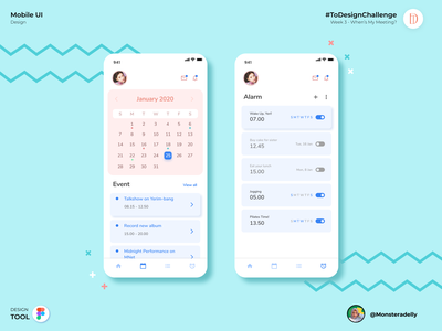 My Schedule typography app ui mobile app design illustration