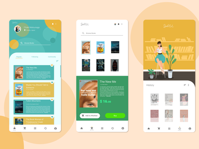 First Self-Design : BookLet app ui design illustration