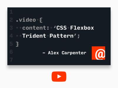 CSS Flexbox Trident Pattern on YouTube