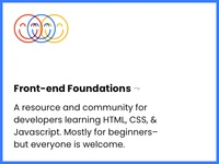 Introducing Front-end Foundations