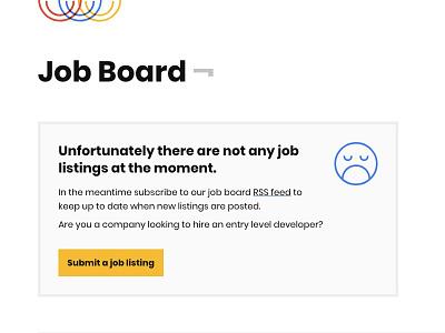 No job listings ☹️