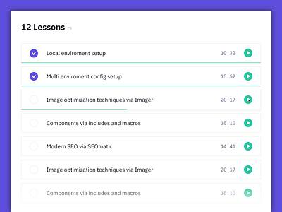 Craft CMS Video Course - Lessons View ibm plex mono ibm plex sans purple craft cms video