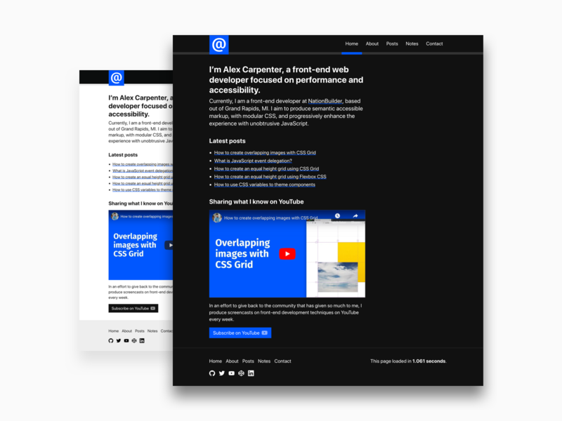 prefers-color-scheme: dark website personal website css darkmode