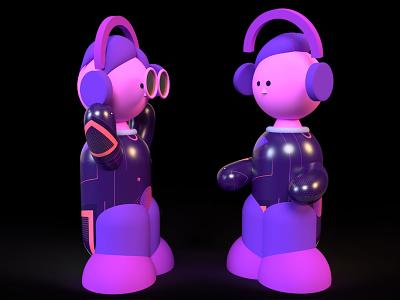 music people music dimension design purple 3d illustration
