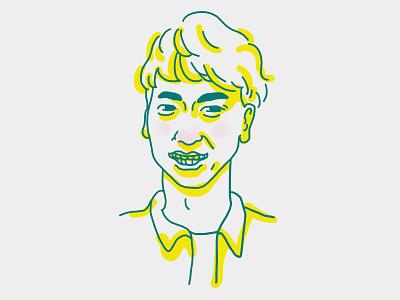Portrait portrait drawing illustration