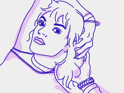 Lily Allen lily allen illustraion drawing