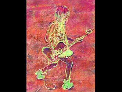 Kim Gordon painting illustration sonic youth kim gordon