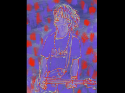 Thurston Moore sonic youth painting illustration drawing