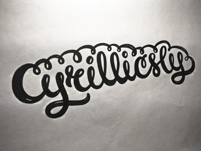 One of the trials for a logo lettering sketching brush marker script cursive swash drawing italic sketch