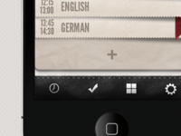 Timetable (HD 2) for iPhone - First draft