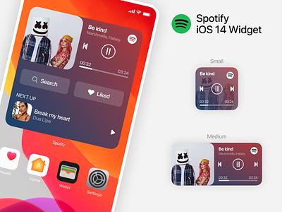 iOS 14 - Spotify Widget minimal ui music spotify widget 14 ios