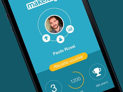 Home Screen - UI App minimal home profile flat ui mobile voucher circle drag icon icons social