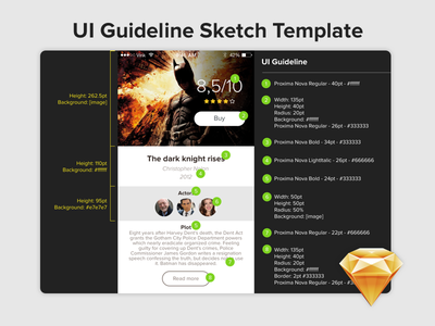 UI Guideline - Sketh template ui guideline sketch template design font color style guide free download