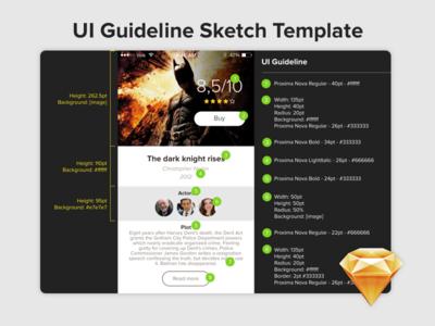 UI Guideline - Sketh template