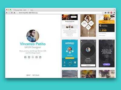 New Portfolio! work about side scroll ux ui design portfolio