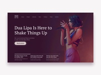 Magazine Hero - Desktop website