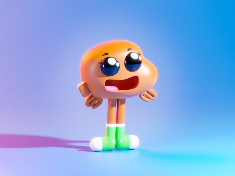 Darwin Watterson - Gumball wallpaper tiny little face darwin watterson design blender illustration characterdesign character smiling smile happy gumball darwin 3d art blender3d 3d