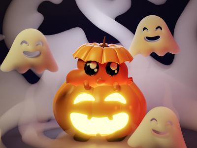 Spooked Darwin - Halloween halloween cute scared gumball darwin watterson darwin spooky october spooktober character