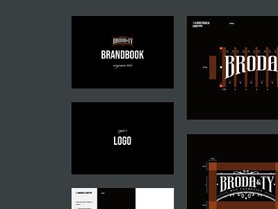 Broda&Ty: Brandbook cosmetics men logotype bearded man beard branding logo brandbook
