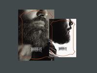 Broda&Ty: Flyers cosmetics men branding visual identity flyers brandbook logotype logo bearded man beard