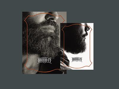 Broda&Ty: Vouchers voucher cosmetics men branding visual identity flyers brandbook logotype logo bearded man beard