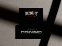 Broda&Ty: Business cards typography branding minimal men barber visual identity stationery cosmetics bearded man business cards