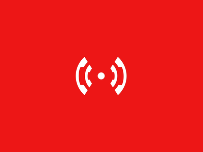 Callert Teaser Trailer 🍿 animation place alert red phone call button connection help first aid mobile brand design life saver signal emergency logo branding