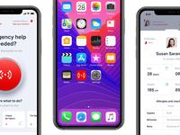 Callert Final Trailer 🔊 animation teaser area button red call profile alert phone signal sign first aid help life saver emergency branding brand design logo mobile ui