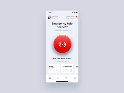 Callert - Emergency call interaction life ios calling concept health mobile emergency branding app