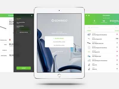 Sowingo sneak peek big photo sterile clean green office ipad app ios dentists