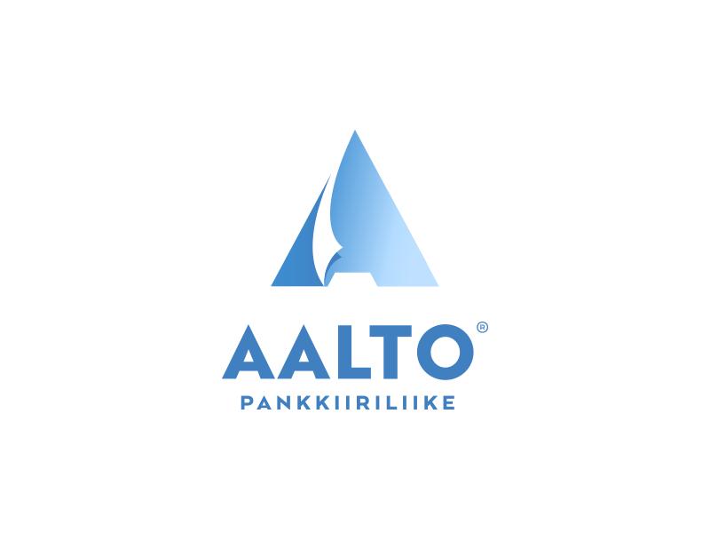 Aalto v2 blue finance paper letter a sail wave