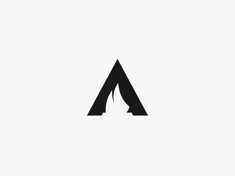 Aalto 2 mark sign negative space a wind water sail logo rejected