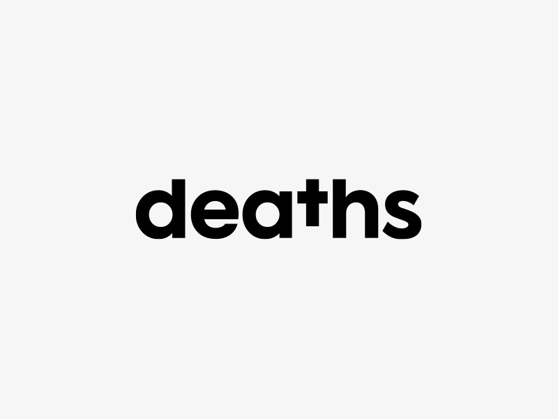 ⚰️ Deaths #2 death deaths logo logotype cross mono design studio agency typography black