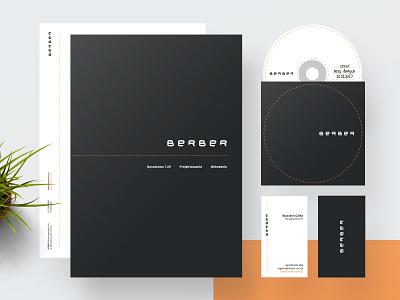 BERBER Identity agency berber black orange business cards dvd cd folder stationery identity